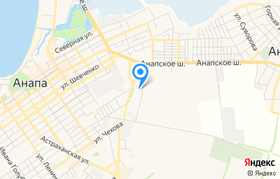 Местоположение на карте пункта техосмотра по адресу Краснодарский край, г Анапа, ул Парковая, д 66