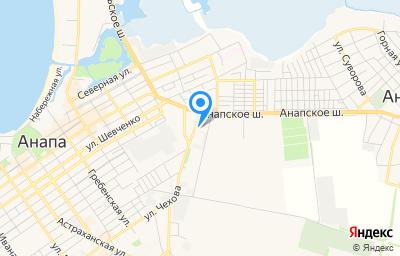 Местоположение на карте пункта техосмотра по адресу Краснодарский край, г Анапа, ул Парковая, д 84