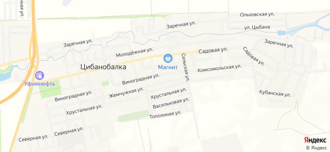 Частный сектор Цибанобалки - объекты на карте