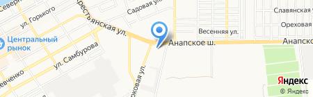 АЗС Роснефть на карте Анапы