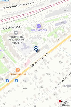 КАДРОВОЕ АГЕНТСТВО УДАЧА на карте Красногорска