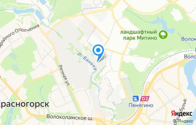 Местоположение на карте пункта техосмотра по адресу Московская обл, г Красногорск, ул Речная, влд 8