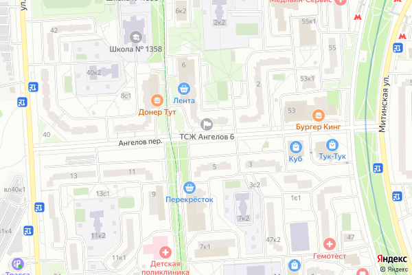 Ремонт телевизоров Ангелов переулок на яндекс карте