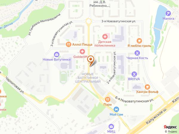 Остановка Нововатутинский просп., 9 в Москве
