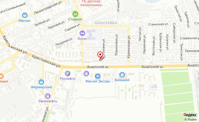 Карта расположения пункта доставки СИТИЛИНК в городе Анапа