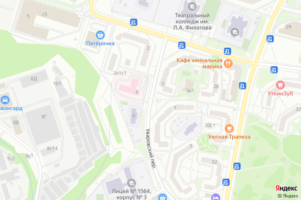 Ремонт телевизоров Уваровский переулок на яндекс карте