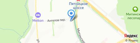Данила Мастер на карте Москвы