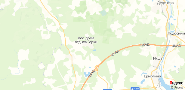 Дома отдыха Горки на карте