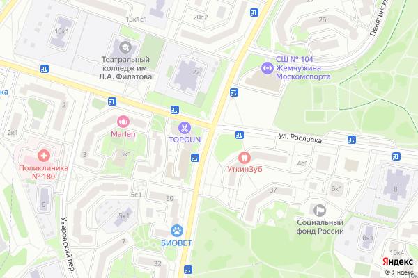 Ремонт телевизоров Улица Генерала Белобородова на яндекс карте