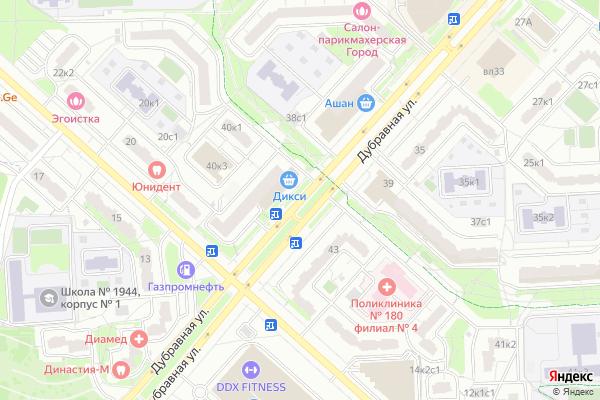 Ремонт телевизоров Улица Дубравная на яндекс карте