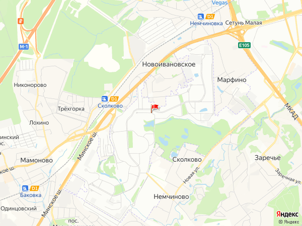 Карта населенный пункт Инновационный центр 'Сколково'