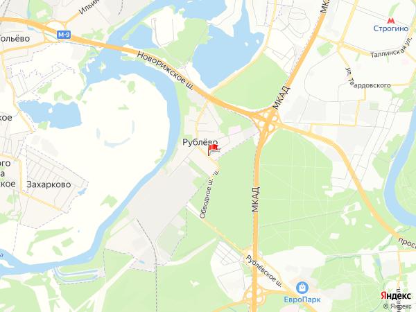 Карта посёлок Рублёво