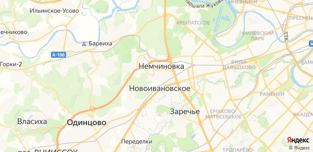 Немчиновка на карте