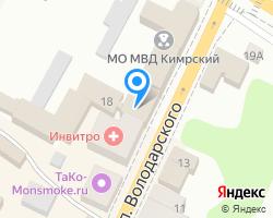 Схема местоположения почтового отделения 171500