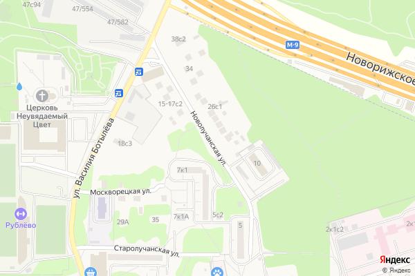 Ремонт телевизоров Улица Новолучанская на яндекс карте