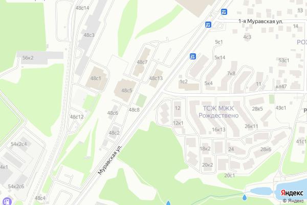 Ремонт телевизоров Улица Муравская на яндекс карте
