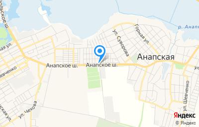 Местоположение на карте пункта техосмотра по адресу Краснодарский край, г Анапа, ш Анапское, д 83А, пом 1