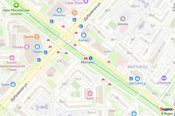 Ремонт телевизоров Метро Митино на яндекс карте