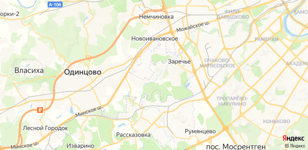 Немчиново на карте