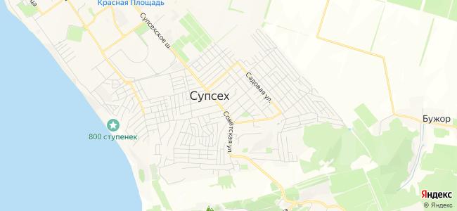 Гостевые дома Супсеха - объекты на карте