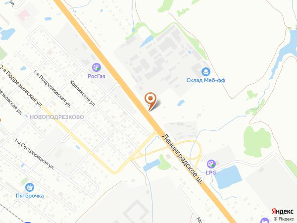 Остановка Новоподрезково в Москве