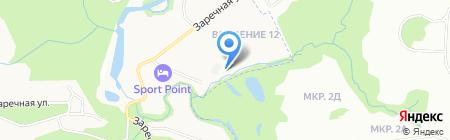 Олимпийская деревня на карте Химок