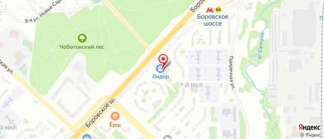 Карта расположения пункта доставки Москва Боровское в городе Москва
