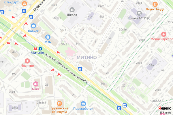 Ремонт телевизоров Район Митино на яндекс карте