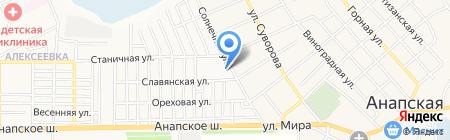 Алексеевский на карте Анапы