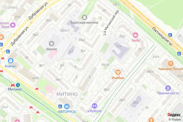 Ремонт телевизоров 2 й Митинский переулок на яндекс карте