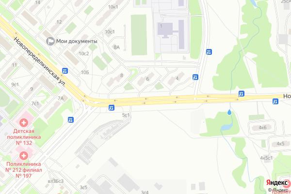 Ремонт телевизоров Улица Новопеределкинская на яндекс карте
