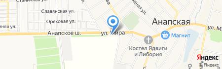 Анталлис на карте Анапы