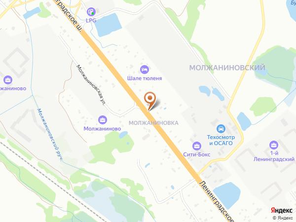 Остановка Молжаниновка в Москве