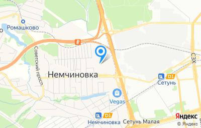 Местоположение на карте пункта техосмотра по адресу Московская обл, г Одинцово, с Немчиновка, ул Московская, д 61