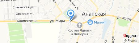 Душечка на карте Анапы