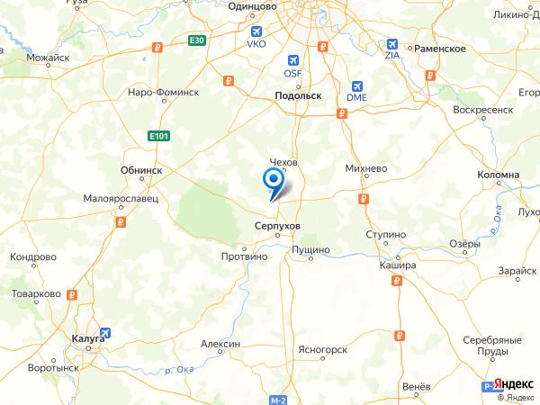деревня Глубоково на карте