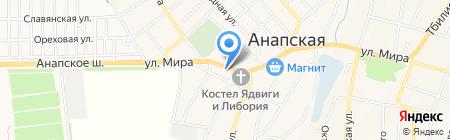 Элина на карте Анапы