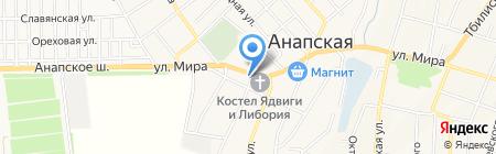 Наши окна на карте Анапы