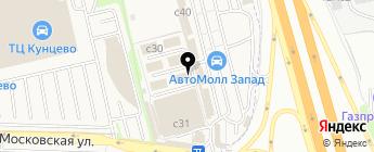 Торгово-установочный центр на карте Москвы