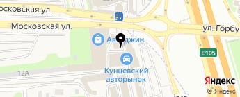 Автостарт на карте Москвы