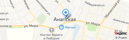 Администрация Анапского сельского округа на карте Анапы