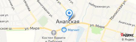 Нововет на карте Анапы
