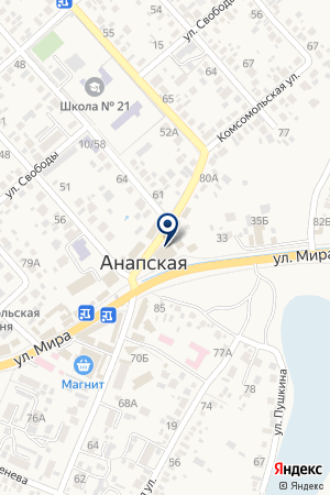 Трио на карте Анапы
