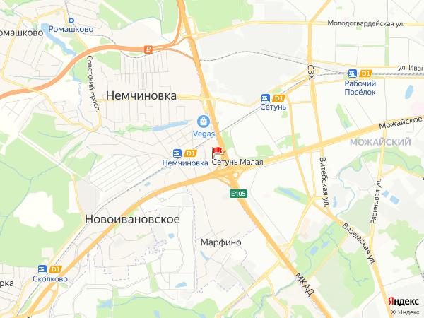 Карта деревня Сетунь Малая