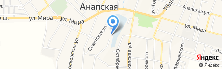 Русская баня на берёзовых дровах на карте Анапы