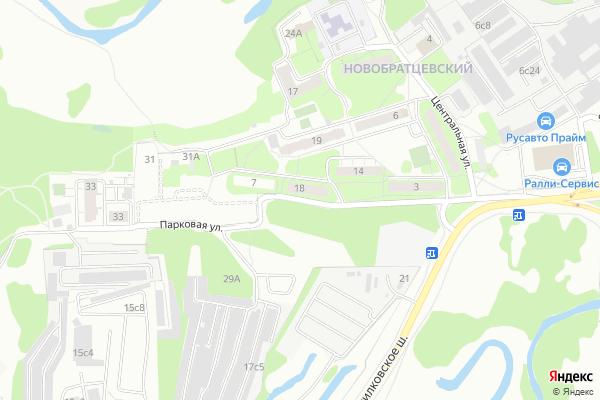 Ремонт телевизоров Улица Парковая на яндекс карте