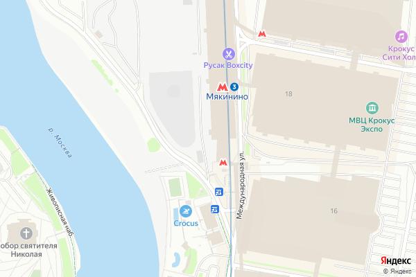 Ремонт телевизоров Метро Мякинино на яндекс карте