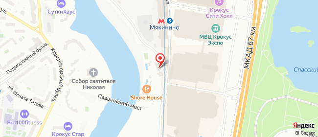 Карта расположения пункта доставки Красногорск Международная в городе Красногорск