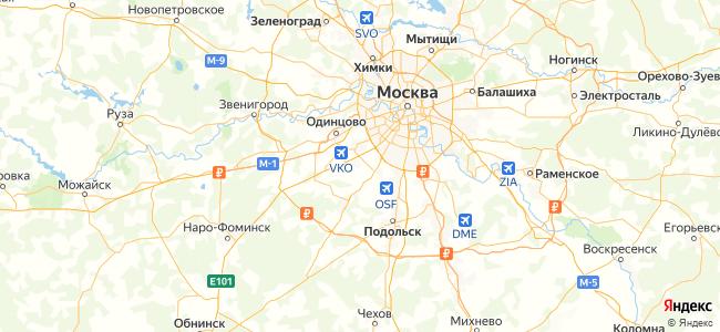 Базы отдыха в Московской области - объекты на карте
