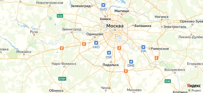 Дома Москвы под-ключ - объекты на карте